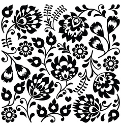 Polish folk art black pattern - Wzory Lowickie vector image