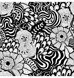 Seamless abstract hand-drawn pattern design vector