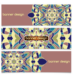 background with mandala vector image vector image