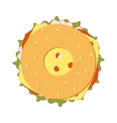 bagel sandwich vector image vector image