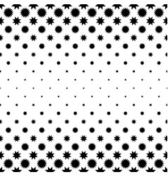 Black and white abstract star pattern - vector