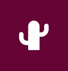 Cactus icon simple vector