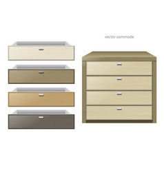chest of drawers multicolor vector image