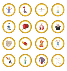 circus show icon circle vector image