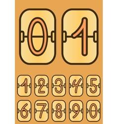 Countdown timer cartoon scoreboard vector