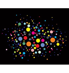 disco lights dots vector image