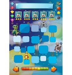 Game template with robots in background vector