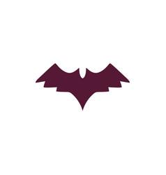 halloween bat in cartoon style isolated vector image