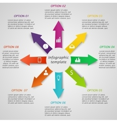 Infographic arrow template vector image