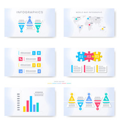 infographic template for presentation slides vector image vector image