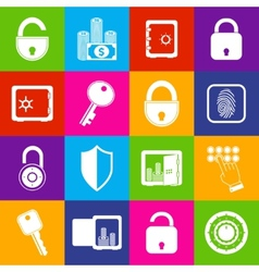 Lock safe icons vector image