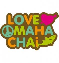 Love mahachai vector