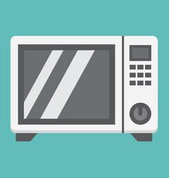 Microwave oven flat icon household and appliance vector