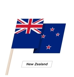 New zealand ribbon waving flag isolated on white vector