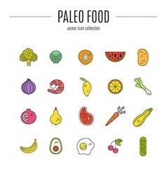 Paleo food vector