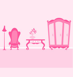 pink room of the little princess vector image