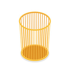 plastic trash basket isometric 3d icon vector image