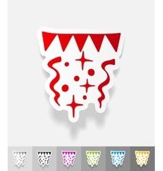 realistic design element festive confetti vector image