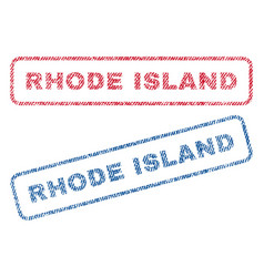 Rhode island textile stamps vector