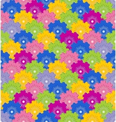 seamless pattern with colorful flower vector image vector image
