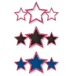 Three gold red stars vector