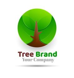 Tree logo abstract design template eco green vector