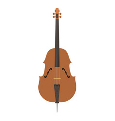 violin with bow isolated fine performance stringed vector image vector image