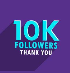10000 followers sucess social media template vector
