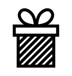 Gift box present ribbon linear vector