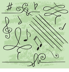 Elements for musical design vector