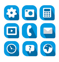 Icons for mobile computer vector