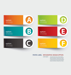 Infographic label tab template vector