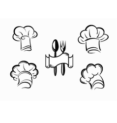 Icons chefs vector
