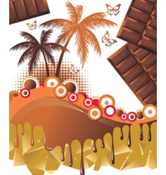 Chocolate paradise background vector