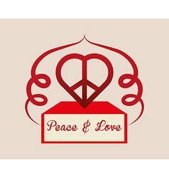 Peace design vector