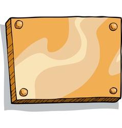 bronze plaque vector image