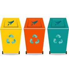 Eco trash vector