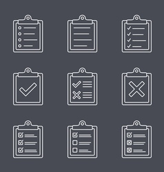 Check list line icon vector