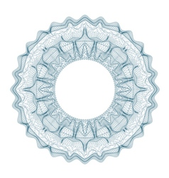 Guilloche decorative element for design certificat vector