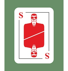 Playing card security conceptual new card suit vector