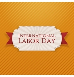 International labor day paper white tag vector