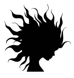 Profile silhouette of girl vector