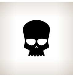 Biker skull isolated vector