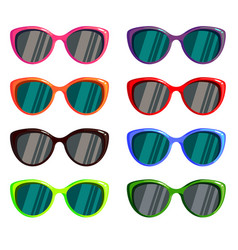 a set of colored glasses for the sun vector image vector image