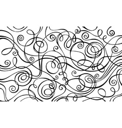Abstract decorative doodles background vector image vector image