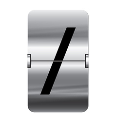 Alphabet silver flipboard letters slash vector