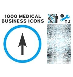 Arrow axis y icon with 1000 medical business vector