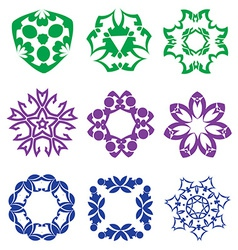 Beautiful colorful abstract flower elements vector