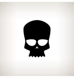 Biker skull isolated vector
