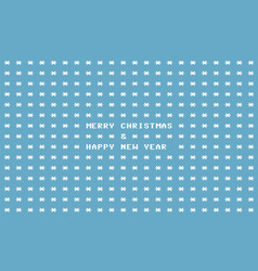 Blue ascii art retro computer christmas card vector